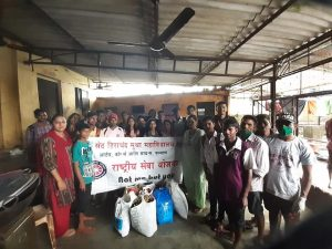 Donation drive organised by NSS and DLLE